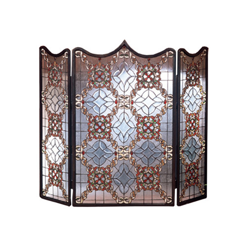Meyda Tiffany 48092 Stained Glass   Tiffany Fireplace Screen from the Classic Fi by Meyda Tiffany