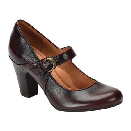 Women's Sofft Miranda Mary Jane Brown Leather Mary Jane