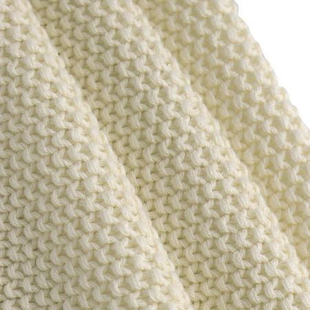 """knit blanket full size beige 70"""" x 78"""" - image 6 de 8"""