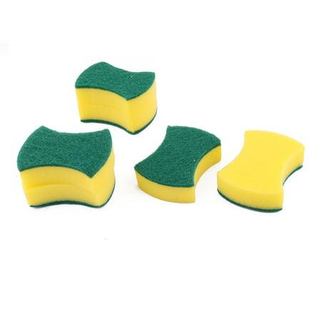 Dish Pan (Home Sponge Bowl Plate Washing Tool Pot Pan Dishes Cleaning Pad Brush)