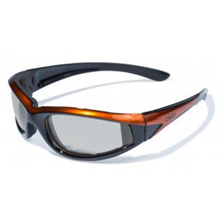 Transition 24 Hawkeye Orange Frame Sunglasses With Clear Photo Chromic (Transition Lens Cost)