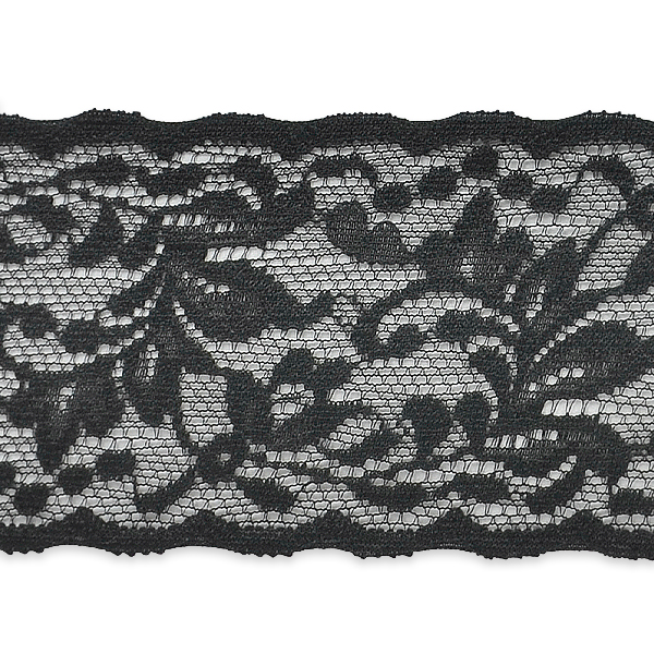 """Expo Int'l 10 yards of Apalonia Macy Floral Stretch Lace Trim 2 1/6"""""""