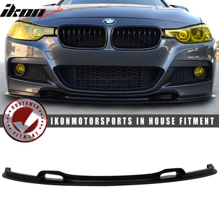 Fits 12 18 Bmw F30 3 Series Vr Style Front Bumper Lip Unpainted