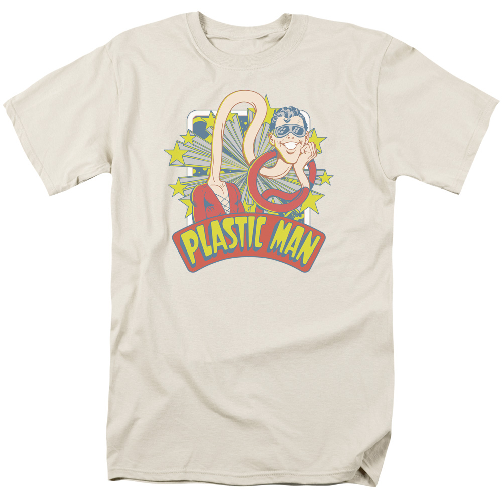 Dc/Plastic Man Stars   S/S Adult 18/1   Cream     Dco670