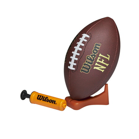 Wilson NFL Composite Football with Pump and Tee, Junior