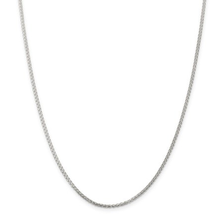 925 Sterling Silver 1.75mm Round Spiga Chain Necklace 20 Inch Pendant Charm Wheat Fine Jewelry Ideal Gifts For Women Gift Set From Heart (Round Spiga Chain)