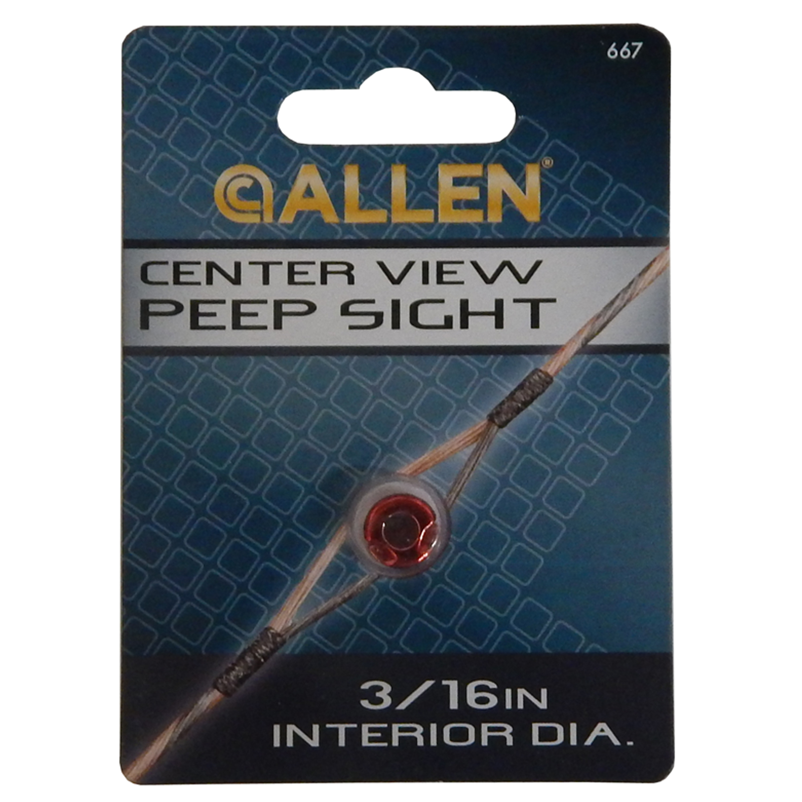"""Allen Center View Compound Bow Peep Sight 3/16"""" Red, 667"""