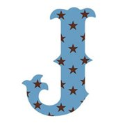 Wallcandy Arts sj Luv Letters Stars J in Blue - Pack of 2