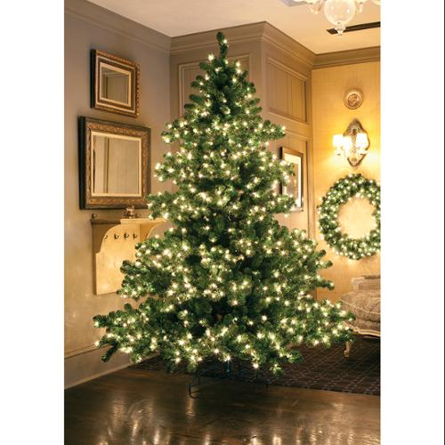12' Pre-Lit Middleton Full Layered Artificial Christmas Tree - Clear Lights