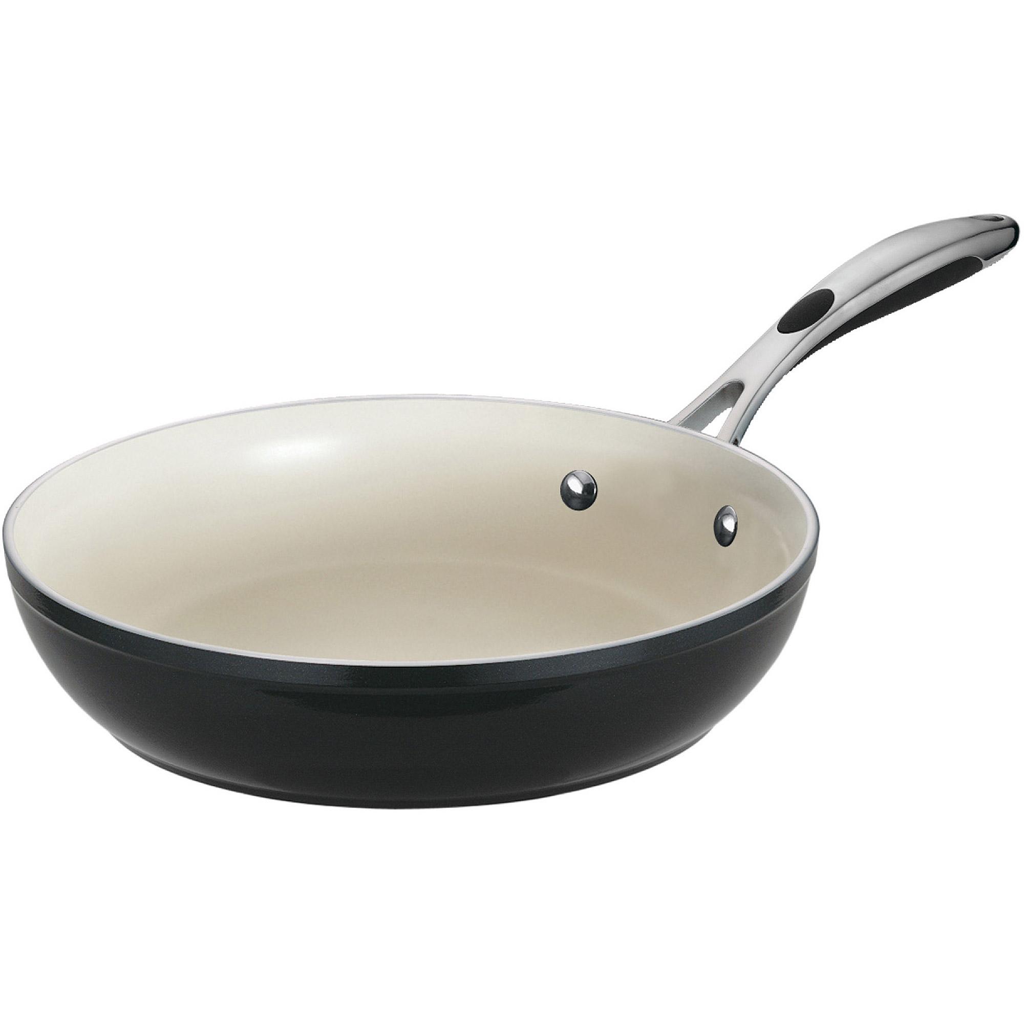Tramontina Gourmet Ceramica_01 Deluxe 12 in Fry Pan, Black