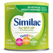 Similac for Spit-Up Non-GMO Baby Formula, 6 Count Powder, 12-oz Can