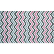 The Rug Market Pink Chevy Size 2.8' x 4.8' Area Rug