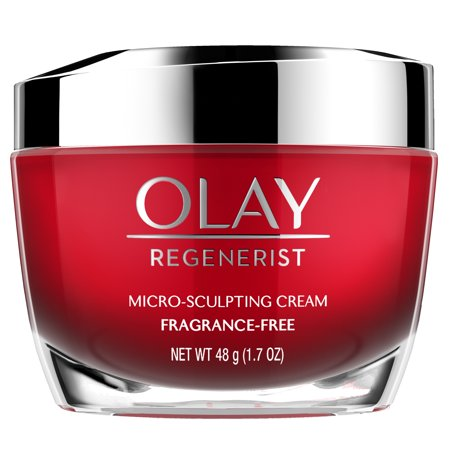 Olay Regenerist Micro-Sculpting Cream Face Moisturizer, Fragrance-Free 1.7 oz