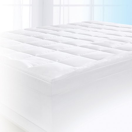 Serta 4 Pillow Top And Memory Foam Mattress Topper King Walmart Com