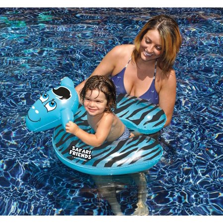 Inflatable Black and Blue Zebra Split Ring Swimming Pool Child Float, - Inflatable Ring