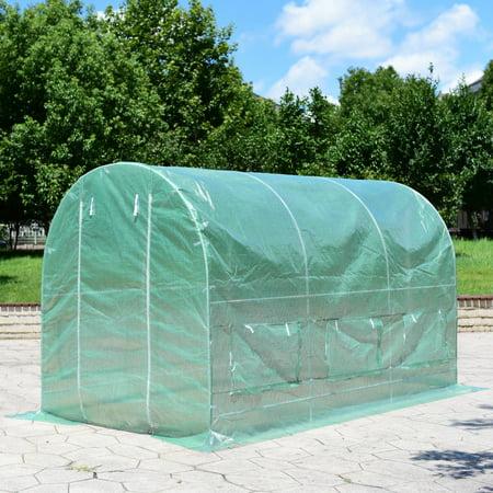 11.5'x 6.5'x 6.5' Walk-in Greenhouse Steel Frame Backyard Grow Tents 6 Windows - image 8 of 10
