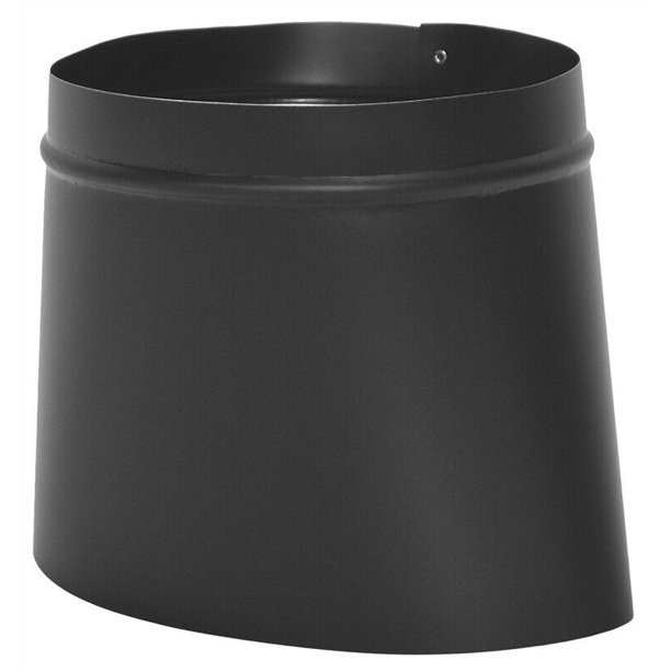 Imperial Bm0039 Stove Pipe Black Oval To Round Connector 4 1 4 X 9 1 2 8545485 Walmart Com Walmart Com