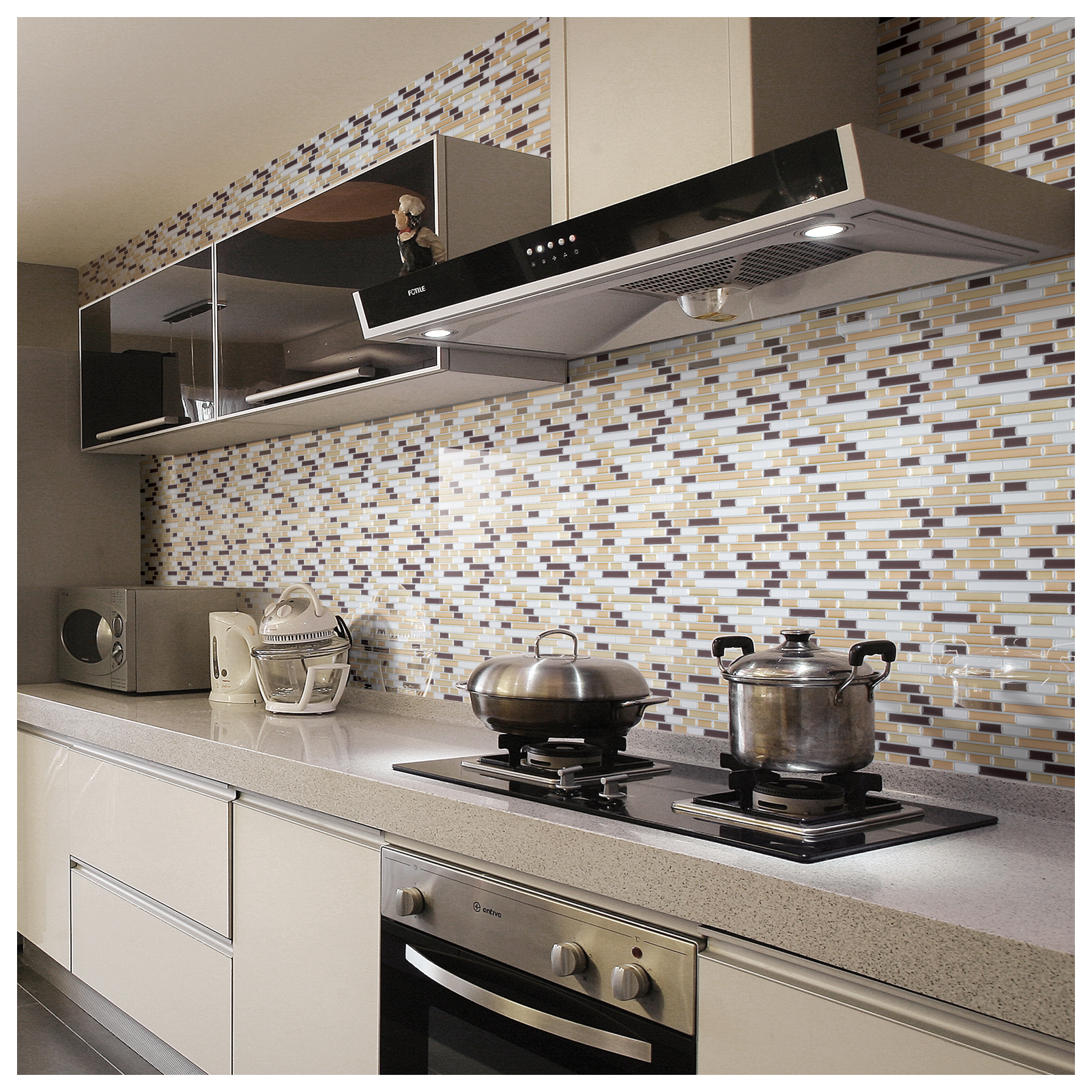 Art3d 10 Pack Peel N Stick Backsplash Tile Sticker Vinyl Wall