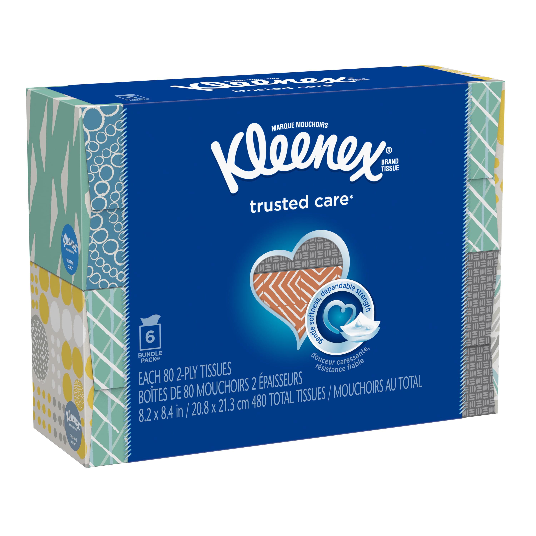 Kleenex Everyday Facial Tissue, 6 Cube Boxes