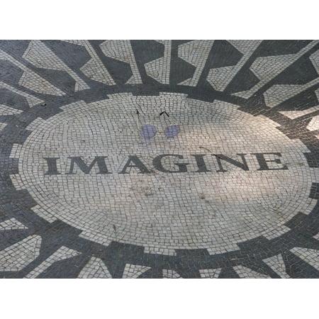 LAMINATED POSTER John Lennon Strawberry Fields Central Park Imagine Poster Print 24 x 36