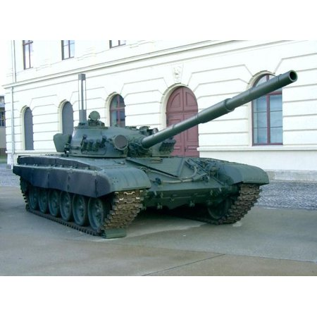 LAMINATED POSTER Main battle tank T-72M of the National People's Army (Bundeswehr Military History Museum Dresden) De Poster Print 24 x 36 (Bundeswehr Tank)