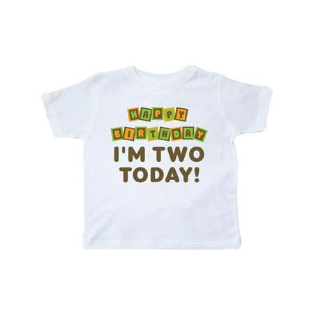 Happy 2nd Birthday I'm Two Childs Toddler T-Shirt - Happy Birthday Kids