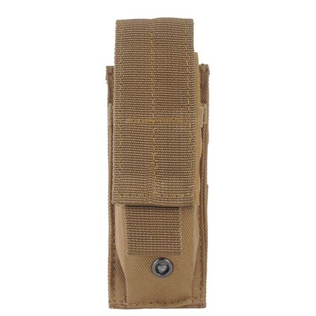 BALIGH Outdoor Hunting Camo Tactical Open Top Single Mag Bag Magazine Holster Pouch with Belt Clip Accumold Single Magazine
