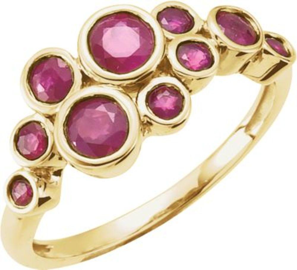 Genuine Madagascar Ruby Ring in 14k Yellow Gold Size 7 by Bonyak Jewelry