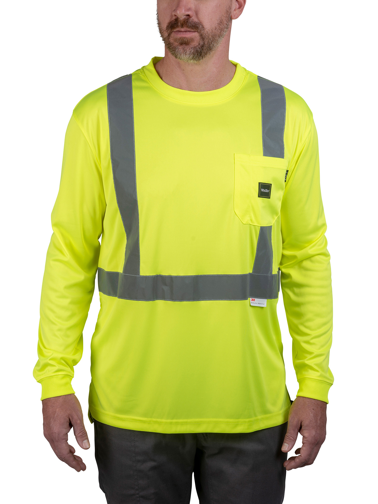 Men's Hi-Vis ANSI II Long Sleeve Tee