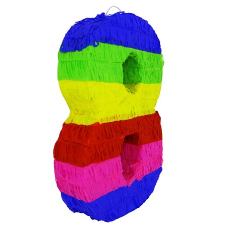 Pinata For Sale (Lutema Colorful Number Eight Pinata Great for Any Birthday, Anniversary)