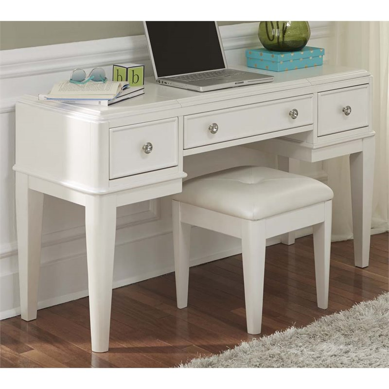 Liberty Furniture Stardust 2 Piece Bedroom Vanity Set in White