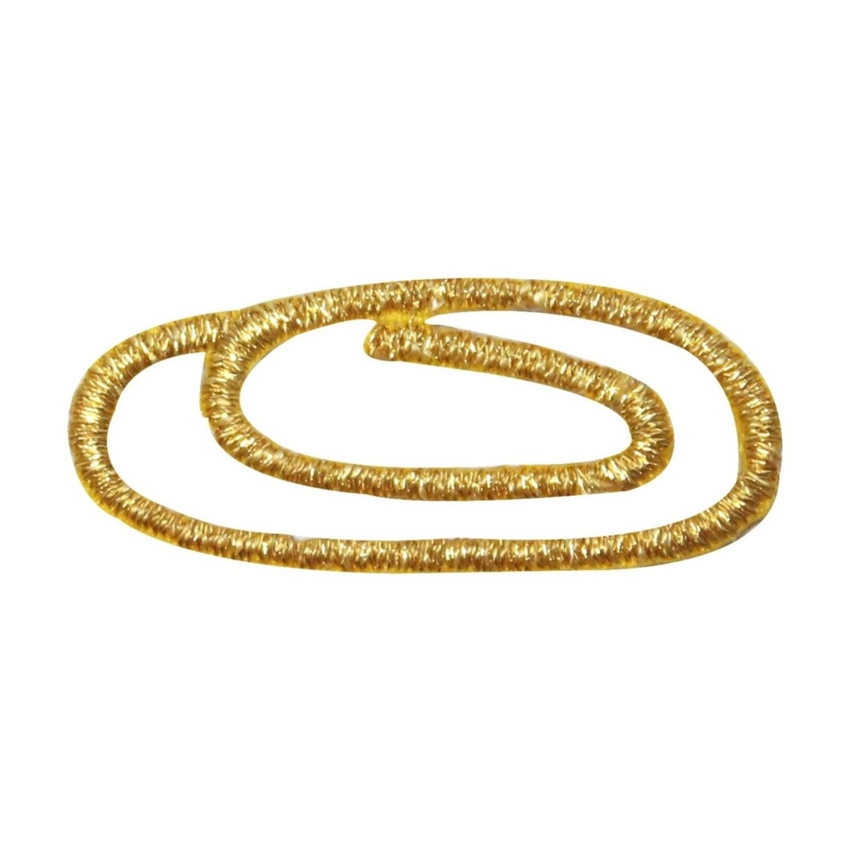 ID 9093 Gold Paper Clip Patch Metal Rope Swirl Hold Embroidered Iron On Applique