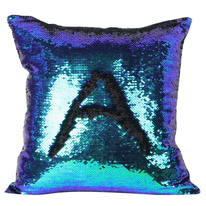 Pillow Case Pillow Cover Cushion Cover Mermaid Sequin Pillowcase 40*40cm