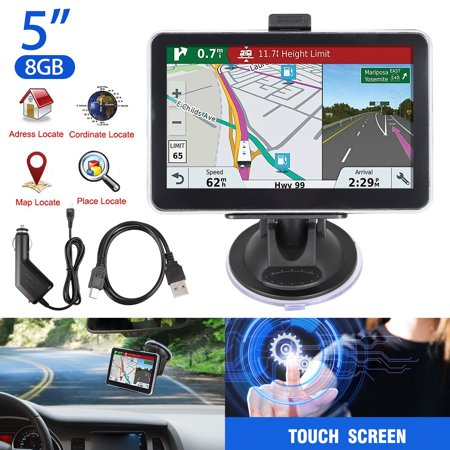 EEEkit GPS Navigation for Car, 5 inches 8GB HD Touch Screen GPS Navigation System for Car 128MB Vehicle GPS Navigator with Lifetime Map Update,2D/3D Display