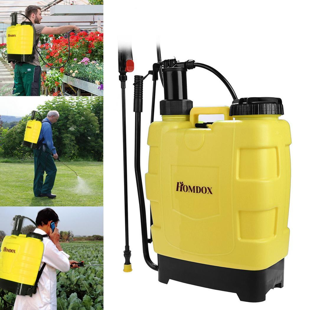 5 Gallon   20L Backpack Pump Sprayer Garden Lawn Farm Sprayers with Steel Wand and 3... by
