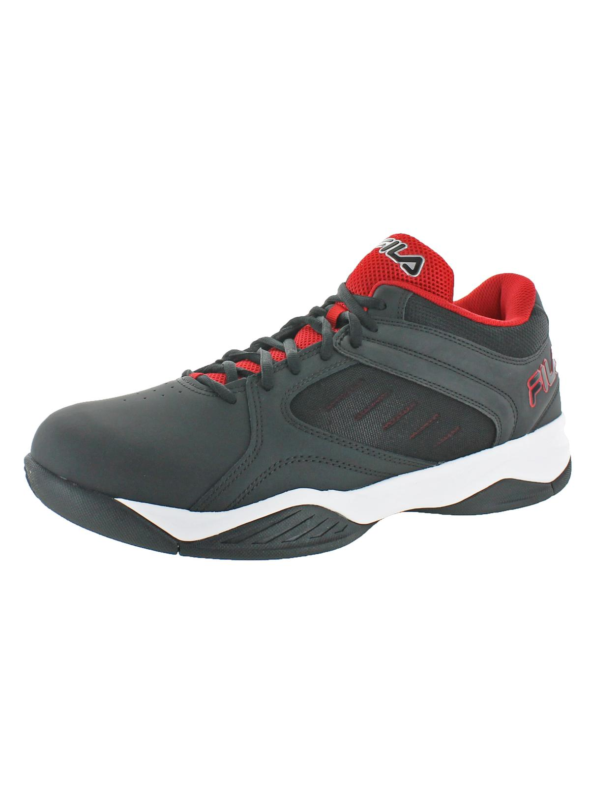 Fila Mens Bank Leather Lightweight Basketball Shoes by Fila