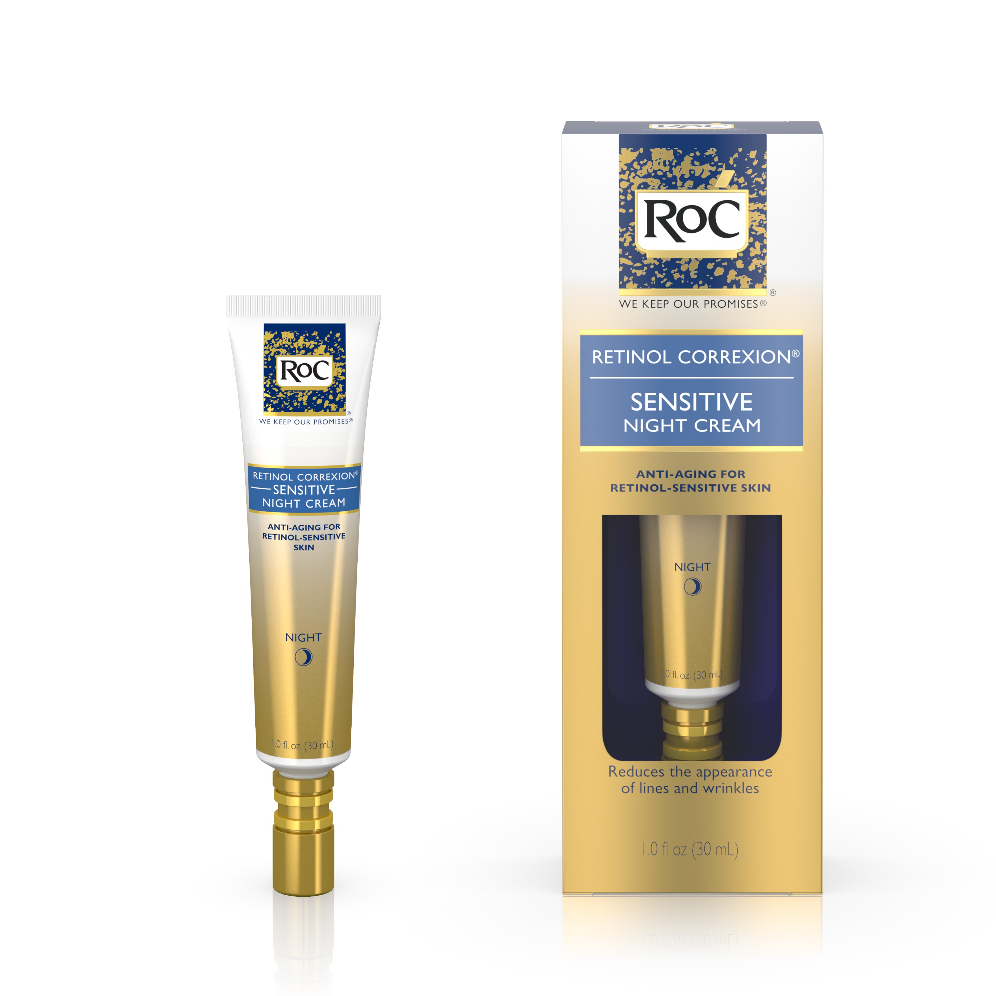 Roc Retinol Correxion Deep Wrinkle Anti Aging Night Face Cream 1 Oz Bd