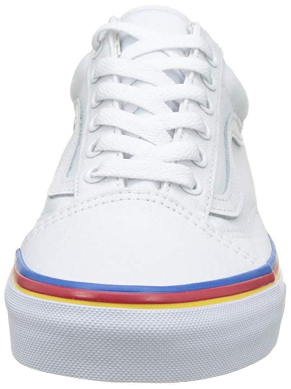 100c97b70dabf5 Vans - Vans Unisex Old School True White Rainbow Foxing Lifestyle Sneaker -  Walmart.com