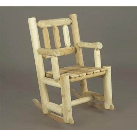 ... Cedar Log Style Outdoor Porch Wooden Rocking Chair - Walmart.com