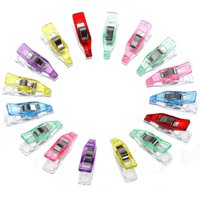 JPGIF 60 PCS Colorful Sewing Craft Quilt Binding Plastic Clips Clamps Pack