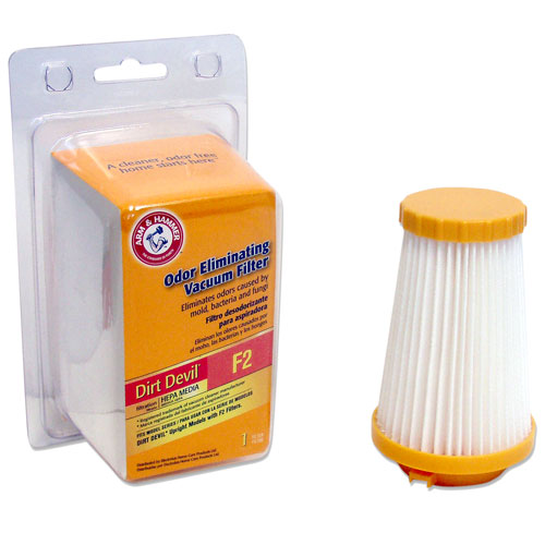 Arm & Hammer Odor Eliminating Vacuum Filters, Dirt Devil F2 with HEPA