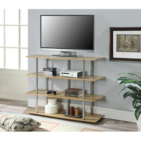 Convenience Concepts Designs2Go XL Highboy TV Stand, Light Oak ()