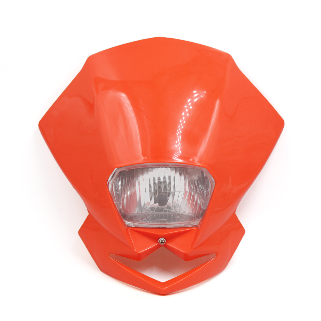 Orange Shell Motorcycle Streetfighter Warm White Headlight Head Lamp Fairing