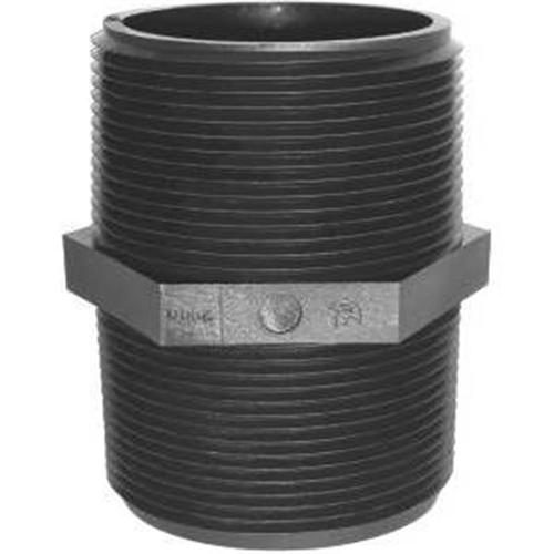 Green Leaf Inc M 3400 P Polypropylene Pipe Nipple, Black, 0. 75 inch