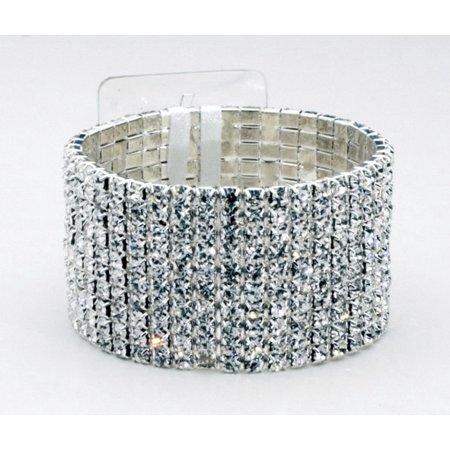 Floral Corsage Bracelet - Silver and Crystal - Girl's Best
