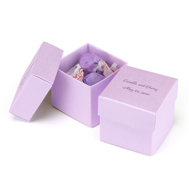 Hortense B Hewitt 39404P Personalized 2 Piece Favor Box - Ice Purple - image 1 de 1