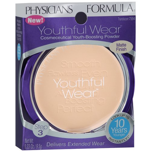 Physicians Formula Youthful Wear Cosmeceutical Youth-Boosting Powder, 7594 Translucent, 0.33 oz