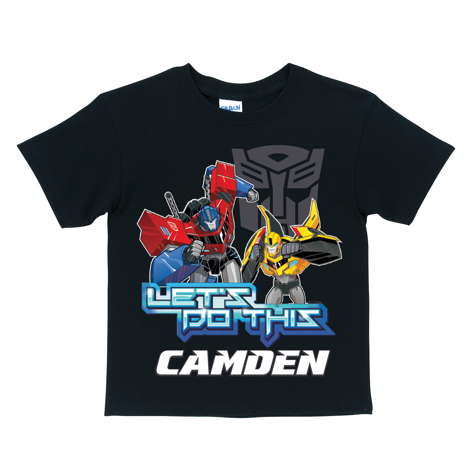 Personalized Black T-Shirt - Transformers Robots in Disguise Let's Do This