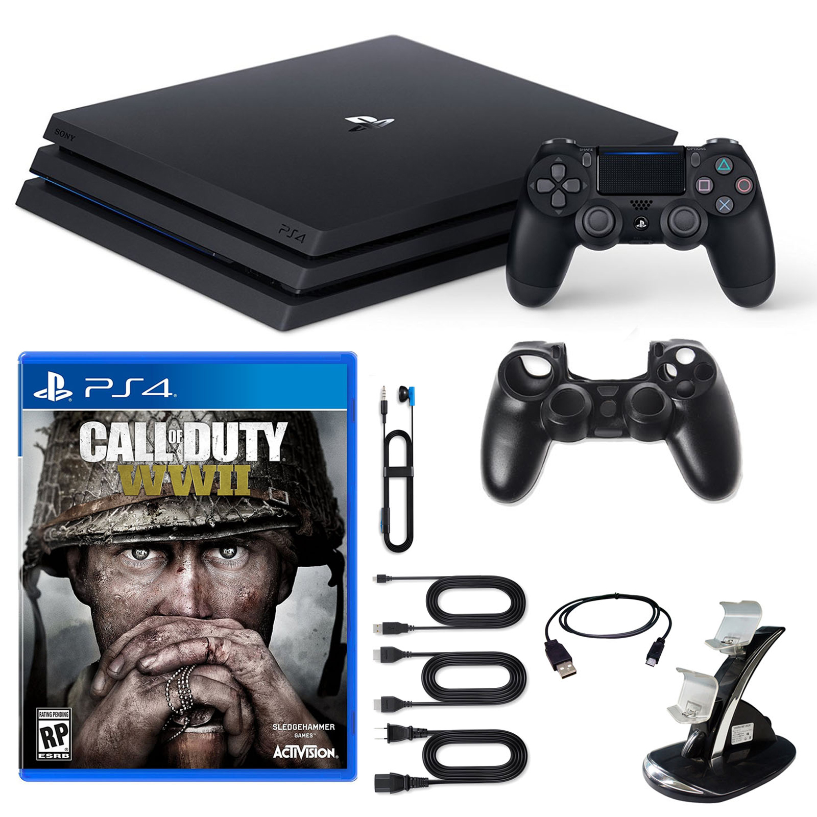 PlayStation 4 Pro 1TB Console COD WWII and Accessories