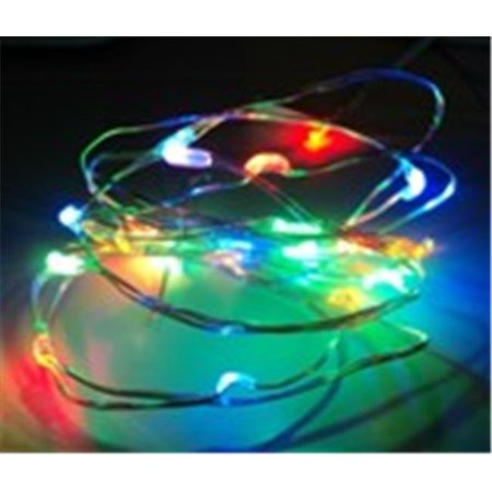 20 LED Fairy String Light Battery Operated Copper Wire, Multicolor Blinking (Battery Operated Led String Lights)